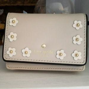 Kate Spade flower card holder coin purse wallet
